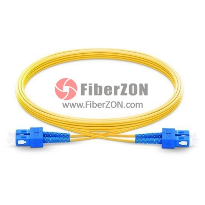 SC UPC to SC UPC Duplex PVC/LSZH/OFNP 9/125 Single Mode Fiber Patch Cable