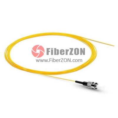 1M Simplex ST/UPC 9/125 Singlemode Fiber Optic Pigtail 0.9mm PVC Jacket