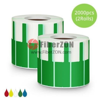 2.76in.L x 0.94in.W P Type Cable Adhesive Label Paper2000pcs/pack, Green