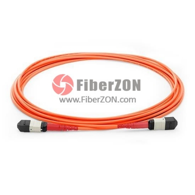 96 Fibers Multimode OM2 12 Strands MPO Trunk Cable 3.0mm LSZH/Riser