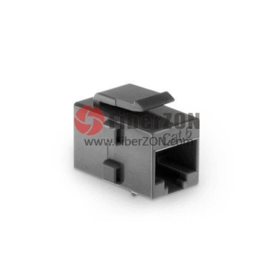 Cat6 RJ45 (8P8C) Unshielded Coupler Keystone Insert Module Gray
