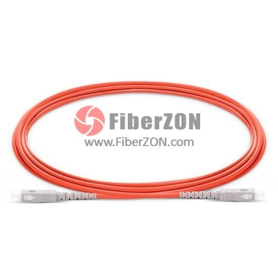 SC to SC Simplex PVC/LSZH/OFNP OM2 Multimode Fiber Optic Patch Cable