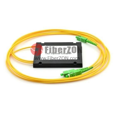 1X2 FBT Splitter Singlemode Three Window 2.0mm Fiber with ABS Box, SC/APC