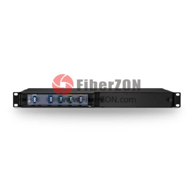 4 Channels 15101570nm Dual Fiber CWDM Mux Demux, 2slot 1U Rack Mount, LC/UPC