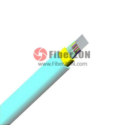 12 Fibers Multimode 50/125 OM4, LSZH, Indoor Ribbon Fiber Optical Cable GJFDBV