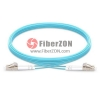 50M LC UPC to LC UPC Duplex 3.0mm PVC(OFNR) 10G OM4 Multimode Armored Fiber Optic Patch Cable