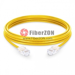 Cat5e Nonbooted Unshielded (UTP) Ethernet Network Patch Cable, Yellow PVC, 15m (65.62ft)