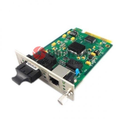 Centralized Managed Gigabit Ethernet Media Converter, Card Type, 1x 10/100/1000BaseT RJ45 to 1x 1000BaseX SC, Dual Fiber, 850nm 550m