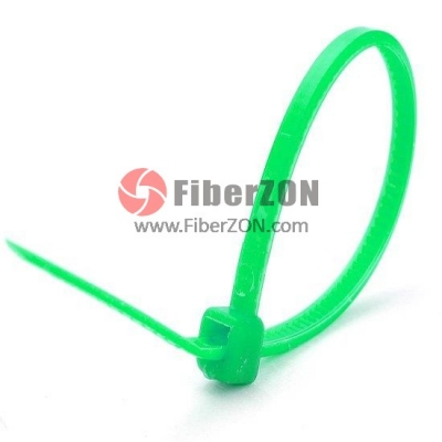 100pcs/Bag 4in.L x 0.1in.W SelfLocking Nylon Cable TiesGreen