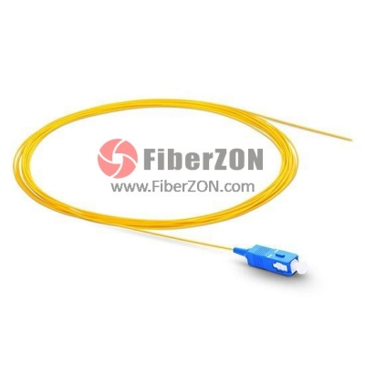 2M Simplex SC/UPC 9/125 Singlemode Fiber Optic Pigtail White 0.9mm PVC Jacket