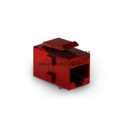 Cat5e RJ45 (8P8C) Unshielded Coupler Keystone Insert Module Red