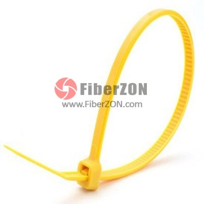 100pcs/Bag 4in.L x 0.1in.W SelfLocking Nylon Cable TiesYellow