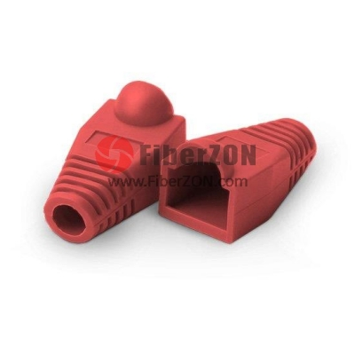 RJ45 Snagless Boot Cover 6.5mm OD Red, 50/Pack