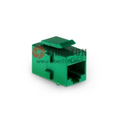 Cat6 RJ45 (8P8C) Unshielded Coupler Keystone Insert Module Green