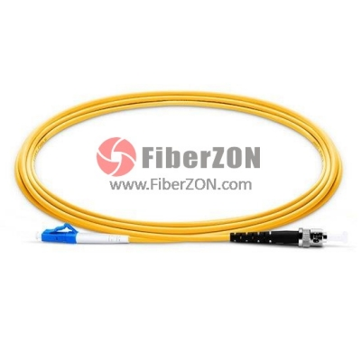 8M LC UPC to ST UPC Simplex 2.0mm PVC(OFNR) 9/125 Single Mode Fiber Patch Cable