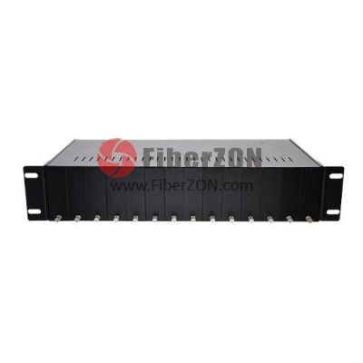 14 Slots Fiber Media Converter Rack Chassis with Dual Power