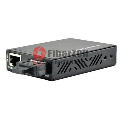 Mini Gigabit Ethernet Media Converter, 1x 10/100/1000BaseT RJ45 to 1x 1000BaseX SC, Dual Fiber, 1310nm 10Km