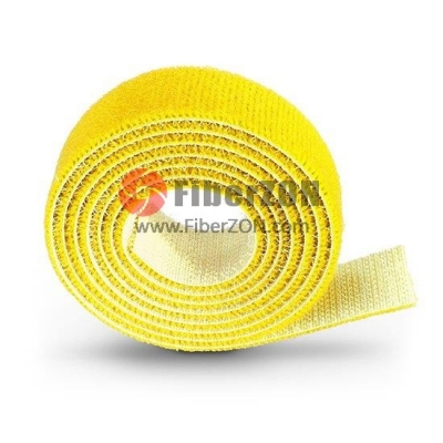 25m/Roll 1000in.L x 0.48in.W Back to Back Magnetic Velcro Cable TieYellow