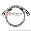 Custom SC UPC to ST UPC 12 Fibers OM1/OM2 Multimode Armored Breakout Cable 3.0mm Legs