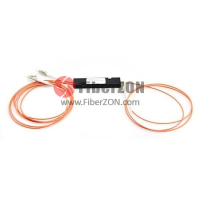 1X2 FBT Splitter Multimode OM2 Single Window 0.9mm Fiber with ABS Box, FC/UPC