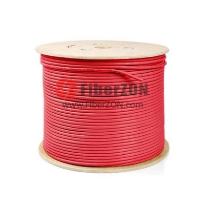 305m (1000ft) Spool Cat5e Unshielded(UTP) Solid PVC Bulk Ethernet CableRed