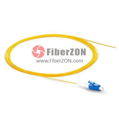 1M Simplex LC/UPC 9/125 Singlemode Fiber Optic Pigtail 0.9mm PVC Jacket