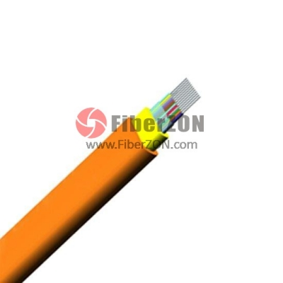 12 Fibers Multimode 50/125 OM2, LSZH, Indoor Ribbon Fiber Optical Cable GJFDBV