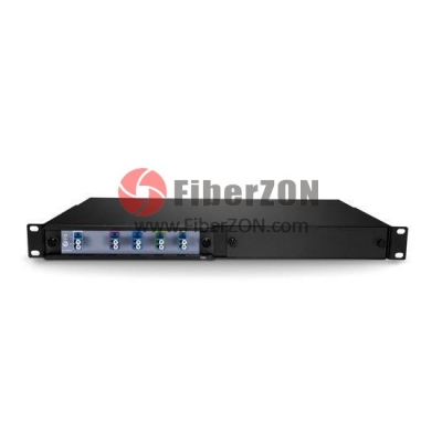 4 Channels 12701330nm Dual Fiber CWDM Mux Demux, 2slot 1U Rack Mount, LC/UPC