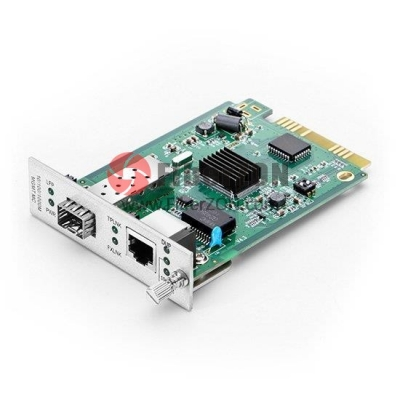 Centralized Managed Gigabit Ethernet Media Converter, Card Type, 1x 10/100/1000BaseT RJ45 to 1x 1000BaseX SFP Slot