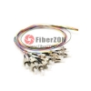 1M 12 Fibers FC/UPC SingleMode ColorCoded Fiber Optic Pigtail, Unjacketed