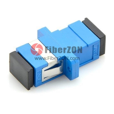 SC/UPC to SC/UPC Simplex Singlemode Plastic Fiber Optic Adapter,0.05dB IL