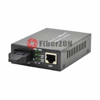 Standalone Unmanaged Fast Ethernet Media Converter, 1x 10/100BaseT RJ45 to 1x 100BaseX SC, Dual Fiber,1310nm 20km