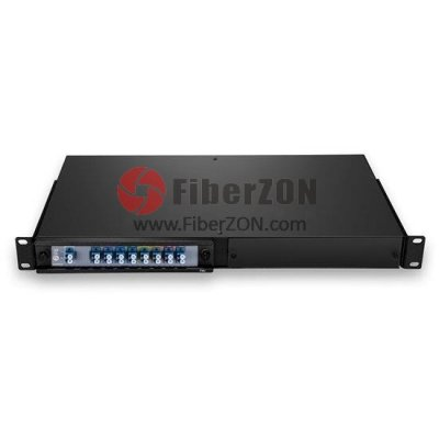 8 Channels 14701610nm Dual Fiber CWDM Mux Demux, 2slot 1U Rack Mount, LC/UPC