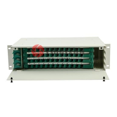 48 Fibers 19'' 3U Rack Mount Optical Distribution Frame (ODF) , Unloaded