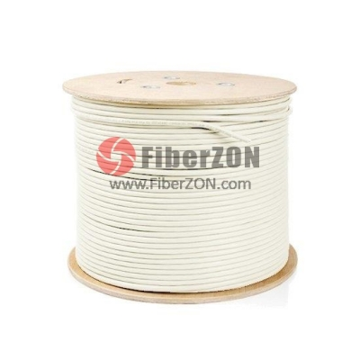 100m (328ft) Spool Cat6a Shielded and Foiled(SFTP) Stranded LSZH Bulk Ethernet CableOff white