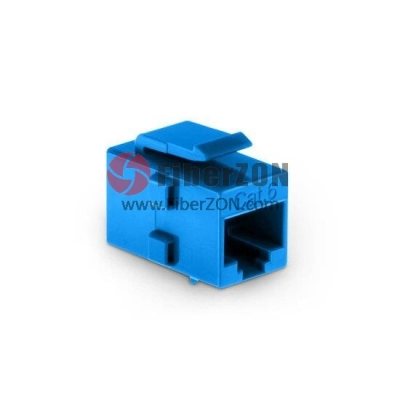 Cat6 RJ45 (8P8C) Unshielded Coupler Keystone Insert Module Blue