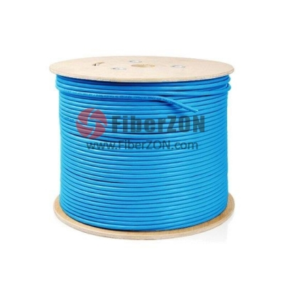 305m (1000ft) Spool Cat6a Shielded and Foiled(SFTP) Solid PVC Bulk Ethernet CableBlue