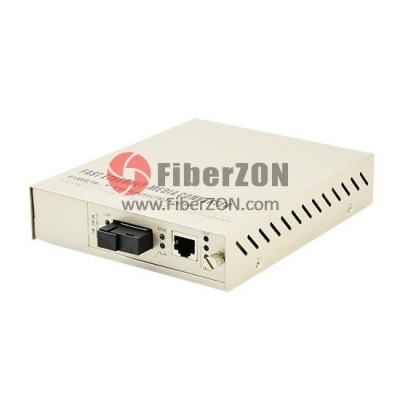 Centralized Managed Gigabit Ethernet Media Converter, Standalone, 1x 10/100/1000BaseT RJ45 to 1x 1000BaseX SC, Single Fiber, 1310nmTx/1550nmRx 20km