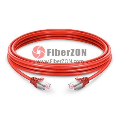 Cat6 Snagless Booted Shielded (STP) Ethernet Network Patch Cable, Red PVC, 5m (16.40ft)