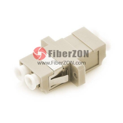 LC/UPC to LC/UPC OM1/OM2 Duplex SC Type With Flange Plastic Fiber Optic Adapter, 0.2dB IL