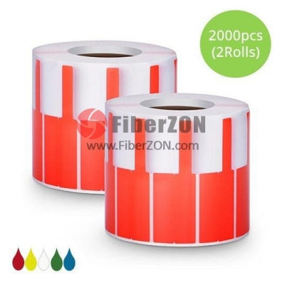 2.76in.L x 0.94in.W P Type Cable Adhesive Label Paper2000pcs/pack, Red