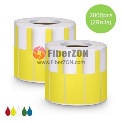 2.76in.L x 0.94in.W P Type Cable Adhesive Label Paper2000pcs/pack, Yellow