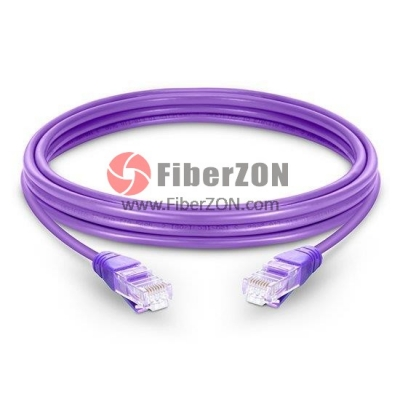 Cat5e Snagless Unshielded (UTP) Ethernet Network Patch Cable, Purple LSZH, 60m (196.85ft)