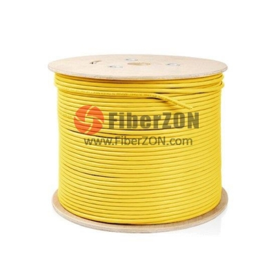 305m (1000ft) Spool Cat5e Unshielded(UTP) Solid PVC Bulk Ethernet CableYellow