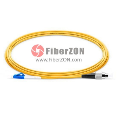8M LC UPC to FC UPC Simplex 2.0mm PVC(OFNR) 9/125 Single Mode Fiber Patch Cable