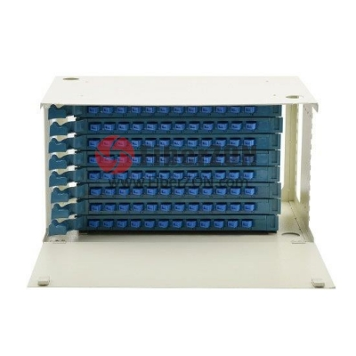 96 Fibers 19'' 6U Rack Mount Optical Distribution Frame (ODF) , Unloaded