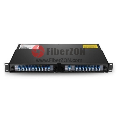 16 Channels 12701610nm(Skip 1390, 1410nm) Dual Fiber CWDM Mux Demux, 2slot 1U Rack Mount, LC/UPC