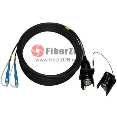 IP67 Harsh Environment Tactical Type (Socket) to LC/SC/FC/ST Fiber Optic Patch Cable