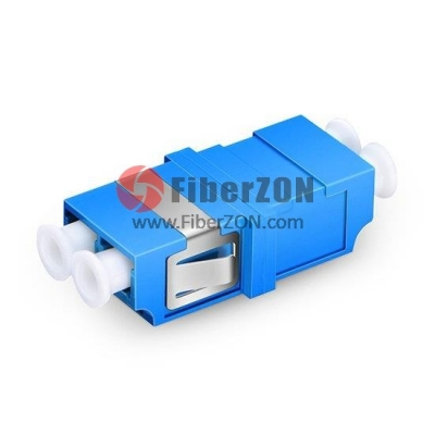 LC/UPC to LC/UPC Duplex OM1/OM2 SC Type Plastic Fiber Optic Adapter,0.2dB IL