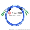 Custom LC to ST 6 Fibers Singlemode 9/125 Armored Breakout Cable 3.0mm Legs